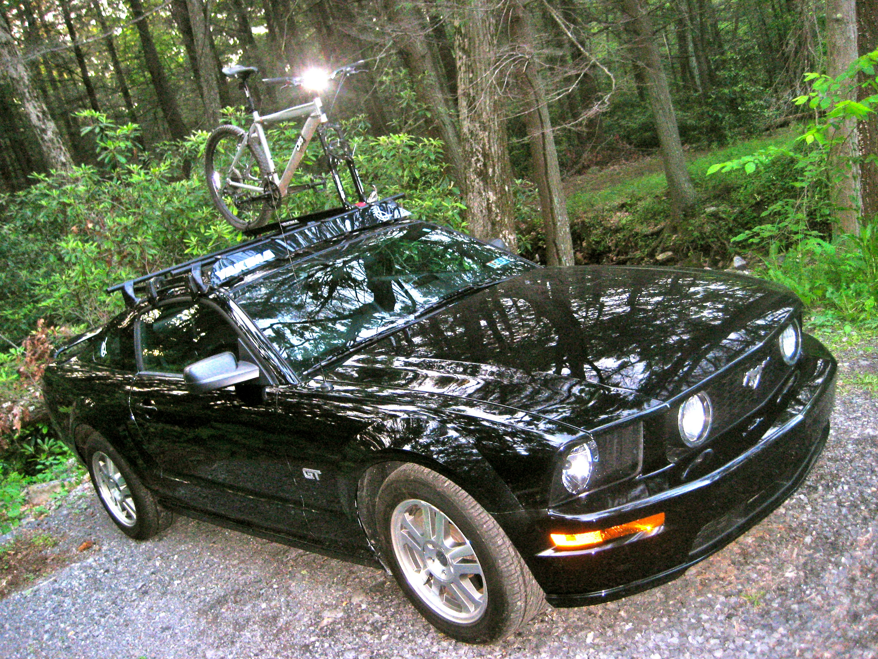 Kayak Roof Rack For Two YOU PUT A WHAT ON A WHAT?! (a roof-rack on a Mustang ...